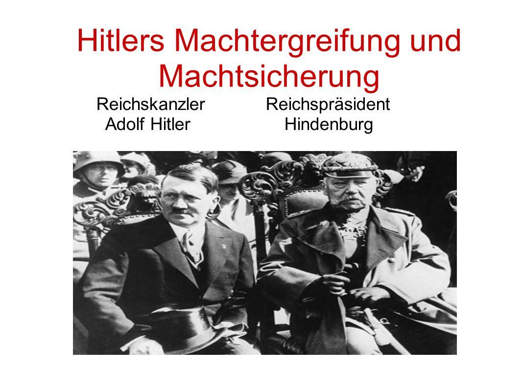 Hitlers Machtergreifung und Machtsicherung