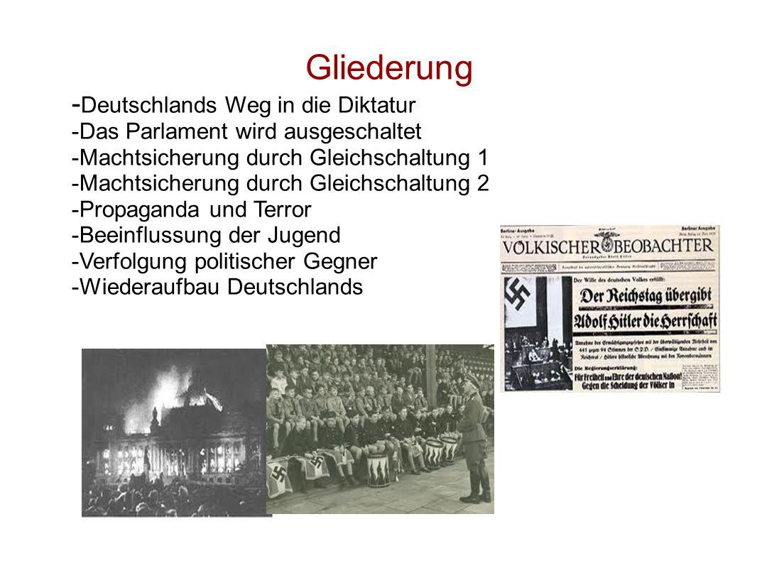 Gliederung -Deutschlands Weg in die Diktatur