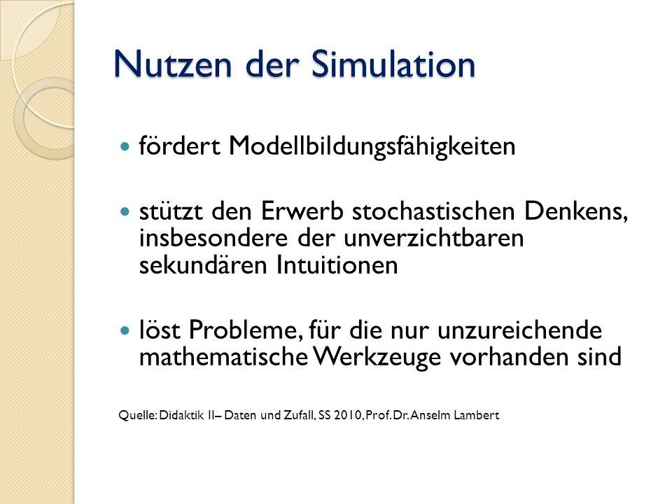 Nutzen der Simulation fördert Modellbildungsfähigkeiten