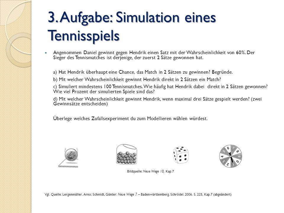 3. Aufgabe: Simulation eines Tennisspiels