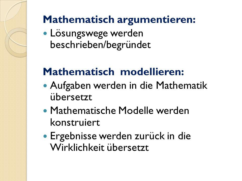 Mathematisch argumentieren: