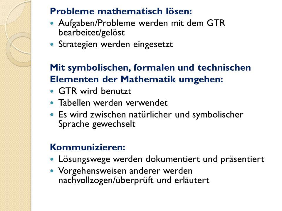 Probleme mathematisch lösen: