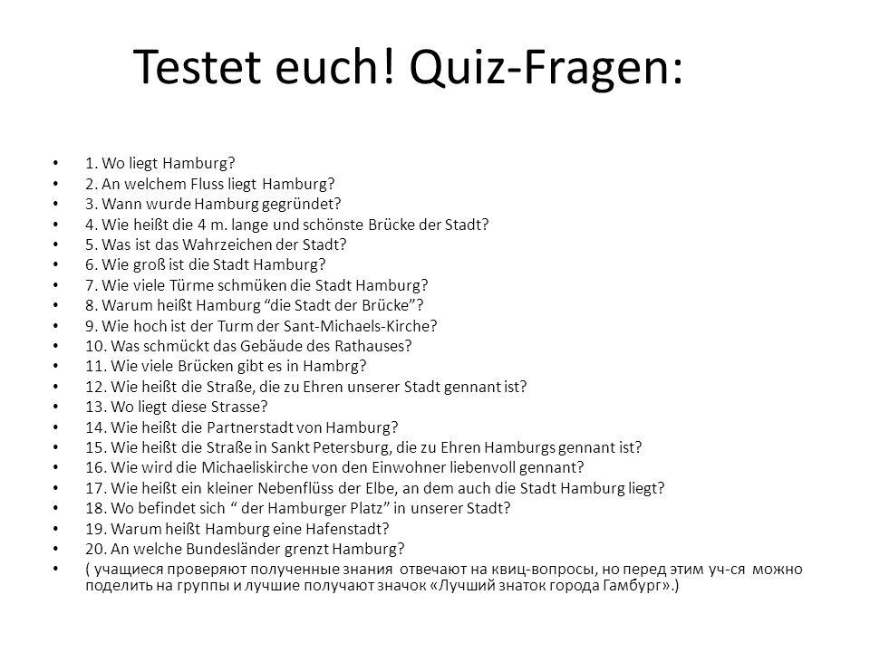 Testet euch! Quiz-Fragen: