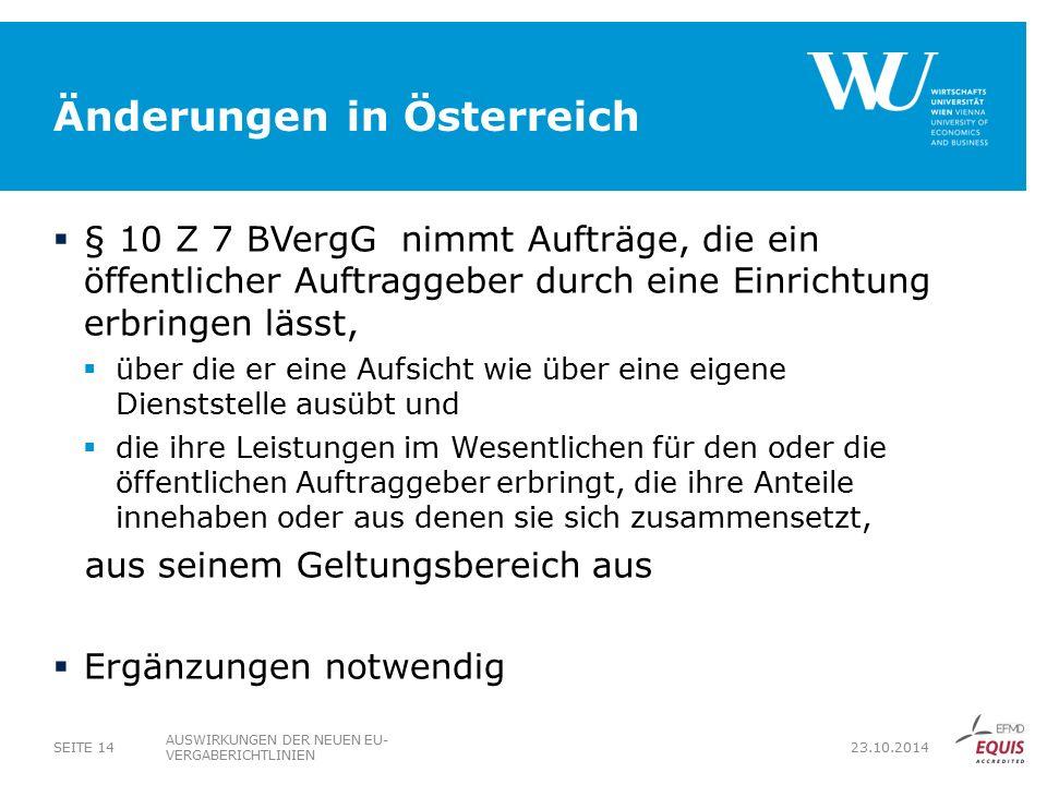 Änderungen in Österreich
