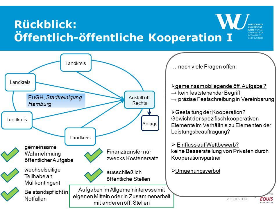 Rückblick: Öffentlich-öffentliche Kooperation I