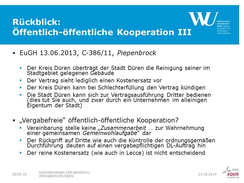 Rückblick: Öffentlich-öffentliche Kooperation III