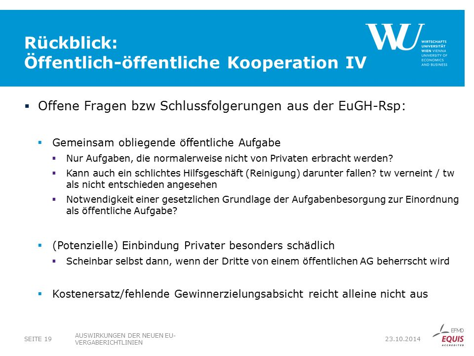 Rückblick: Öffentlich-öffentliche Kooperation IV