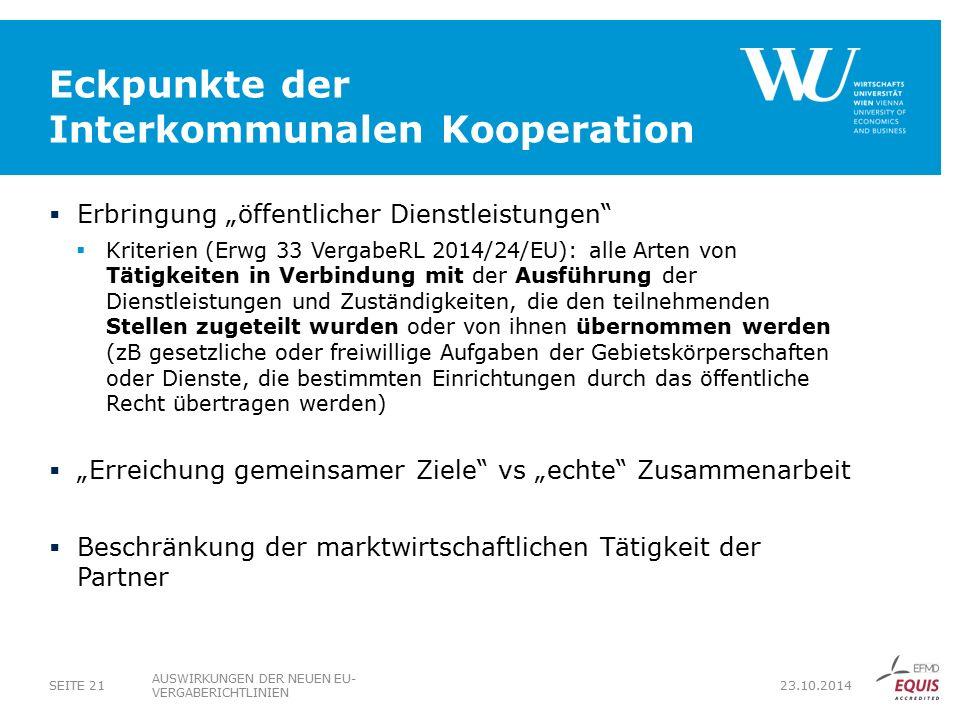Eckpunkte der Interkommunalen Kooperation