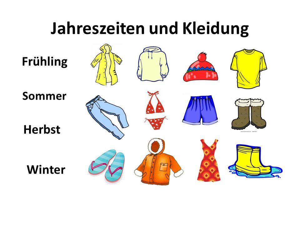 Jahreszeiten und Kleidung