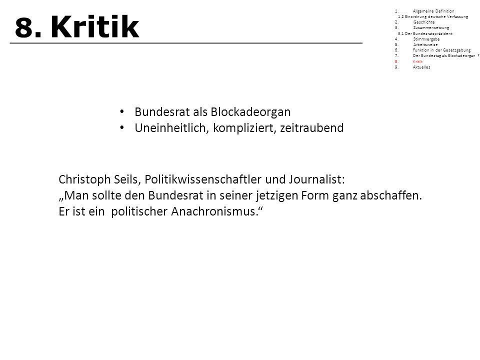8. Kritik Bundesrat als Blockadeorgan
