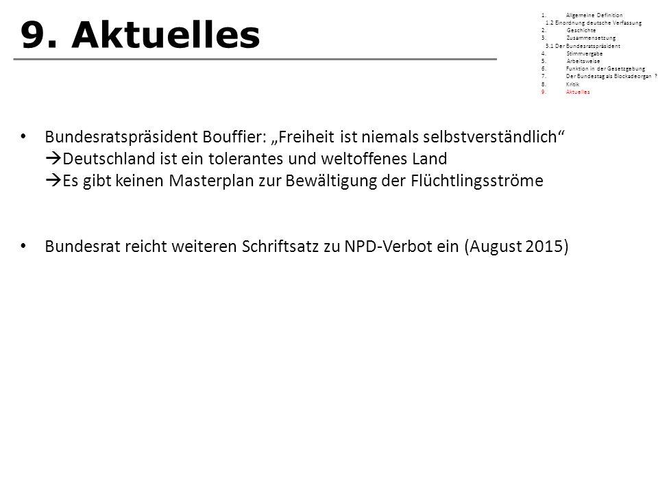 9. Aktuelles Allgemeine Definition. 1.2 Einordnung deutsche Verfassung. 2. Geschichte.