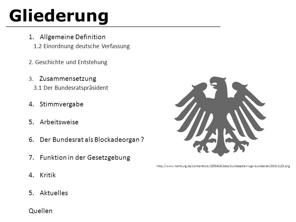 Gliederung Allgemeine Definition 1.2 Einordnung deutsche Verfassung