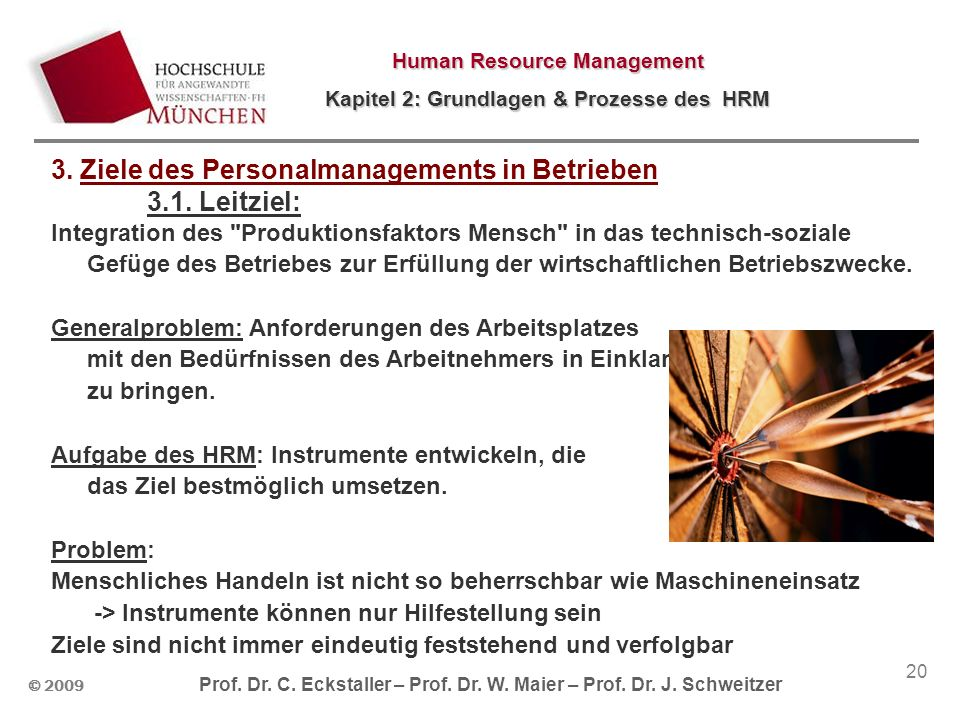3. Ziele des Personalmanagements in Betrieben 3.1. Leitziel: