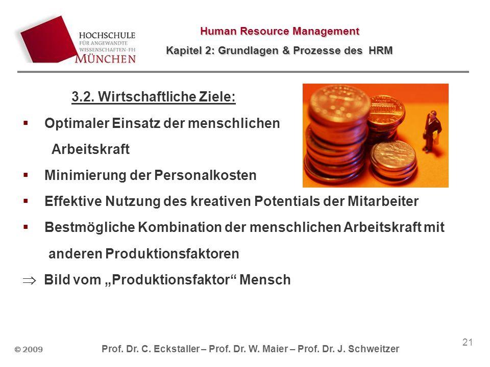 3.2. Wirtschaftliche Ziele: