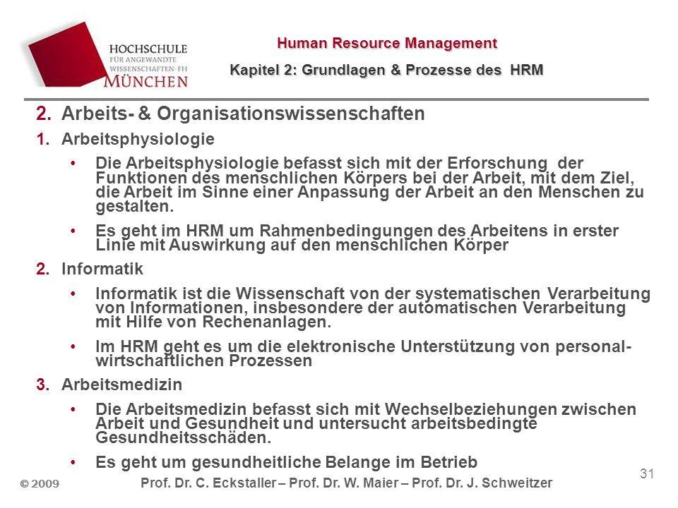Arbeits- & Organisationswissenschaften
