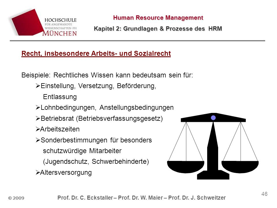 Recht, insbesondere Arbeits- und Sozialrecht