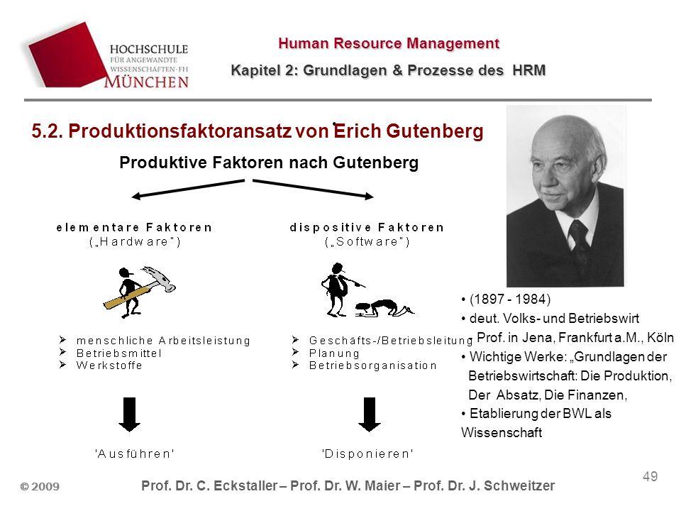Produktive Faktoren nach Gutenberg