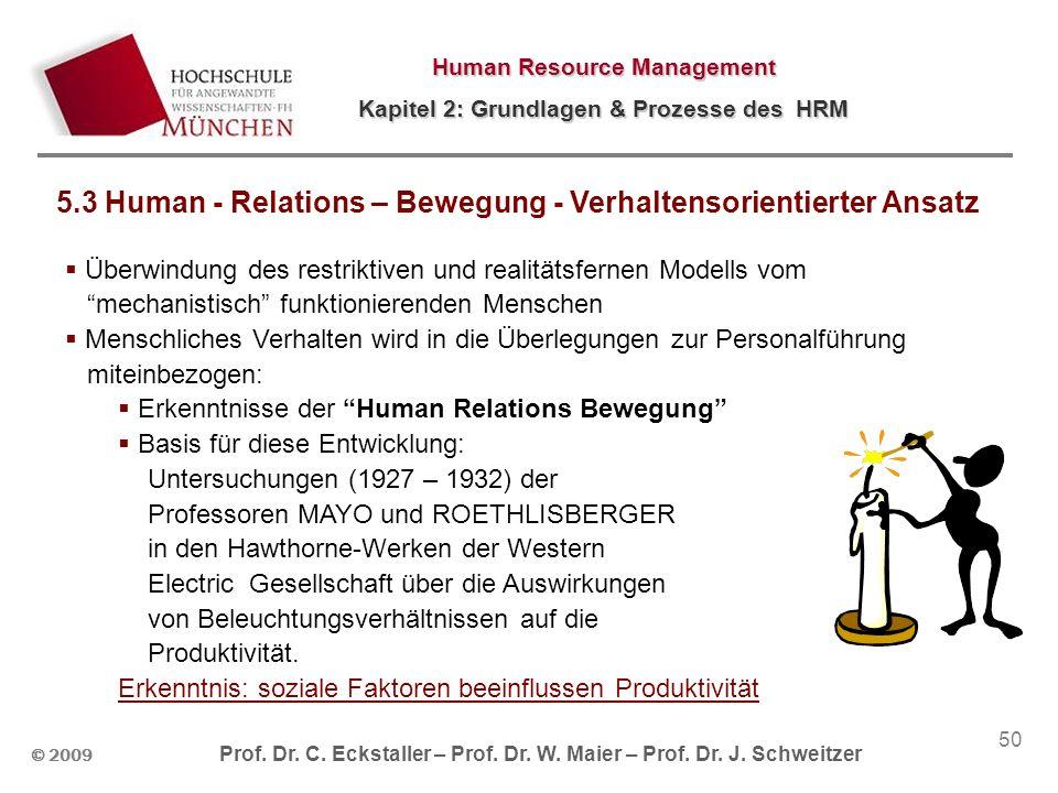 5.3 Human - Relations – Bewegung - Verhaltensorientierter Ansatz