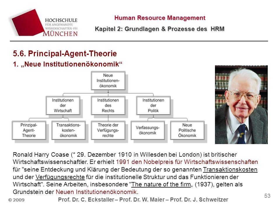 5.6. Principal-Agent-Theorie