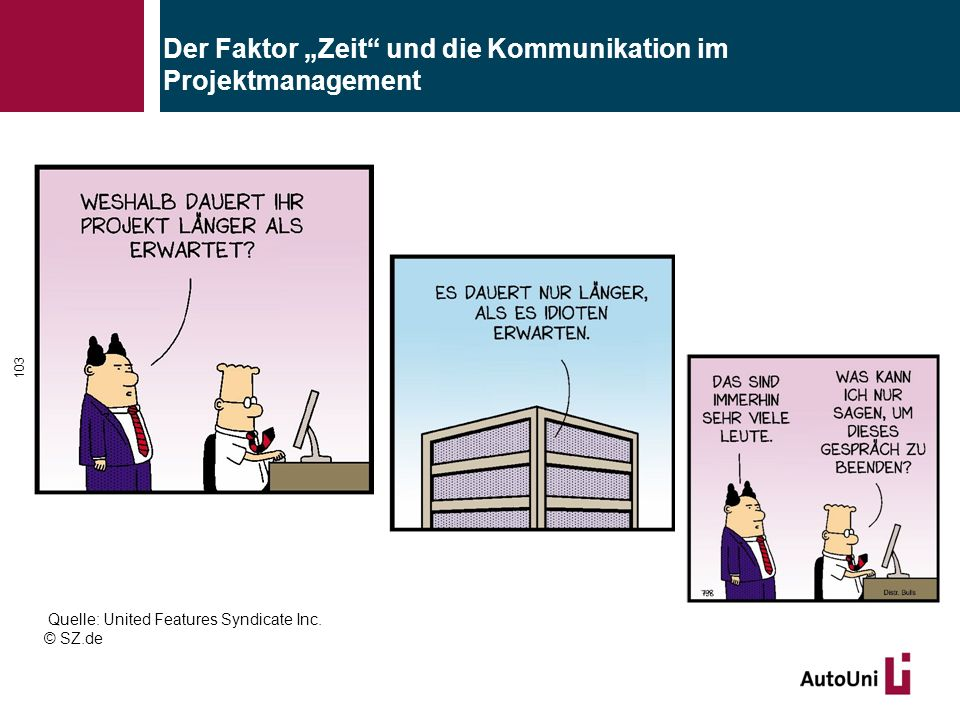 """Der Faktor """"Zeit und die Kommunikation im Projektmanagement"""
