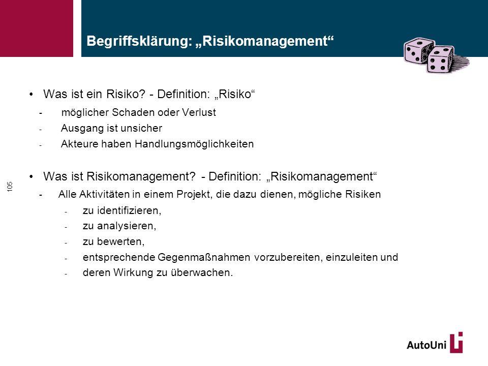 """Begriffsklärung: """"Risikomanagement"""