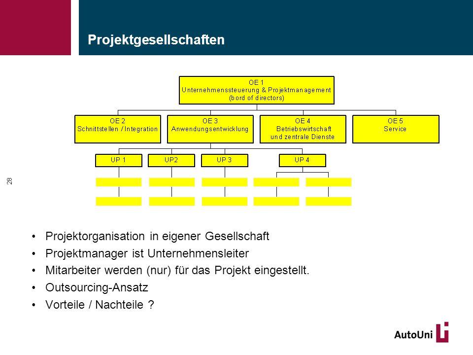Projektgesellschaften