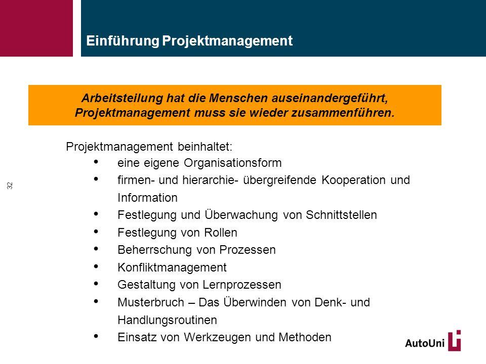 Einführung Projektmanagement
