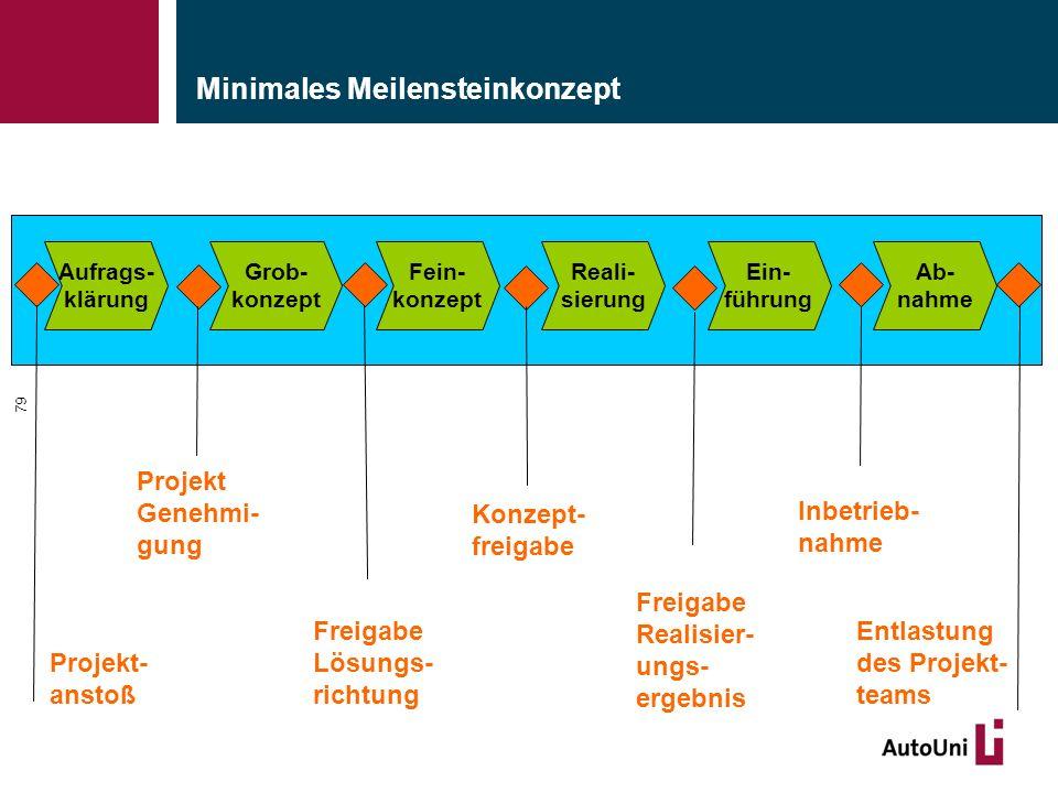 Minimales Meilensteinkonzept