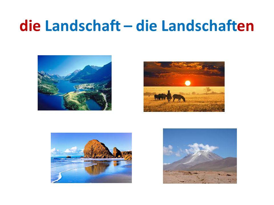 die Landschaft – die Landschaften
