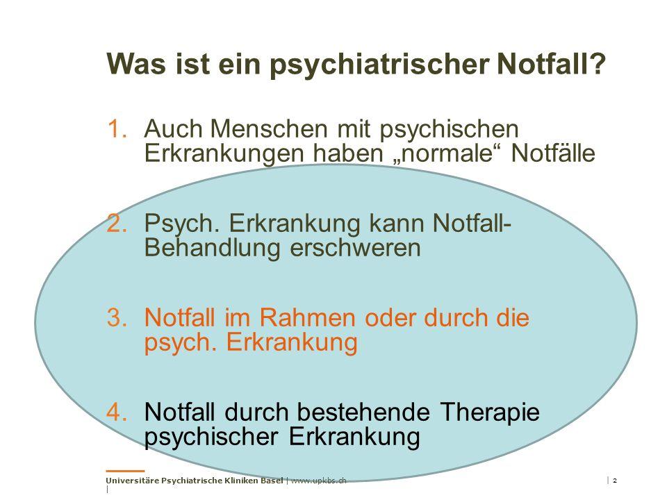 Was ist ein psychiatrischer Notfall