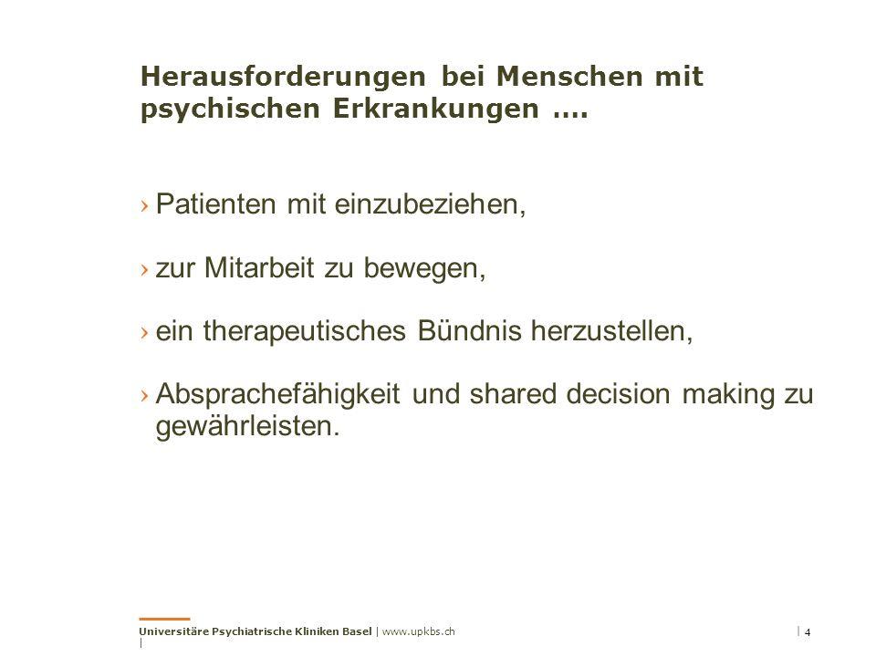 Herausforderungen bei Menschen mit psychischen Erkrankungen ….