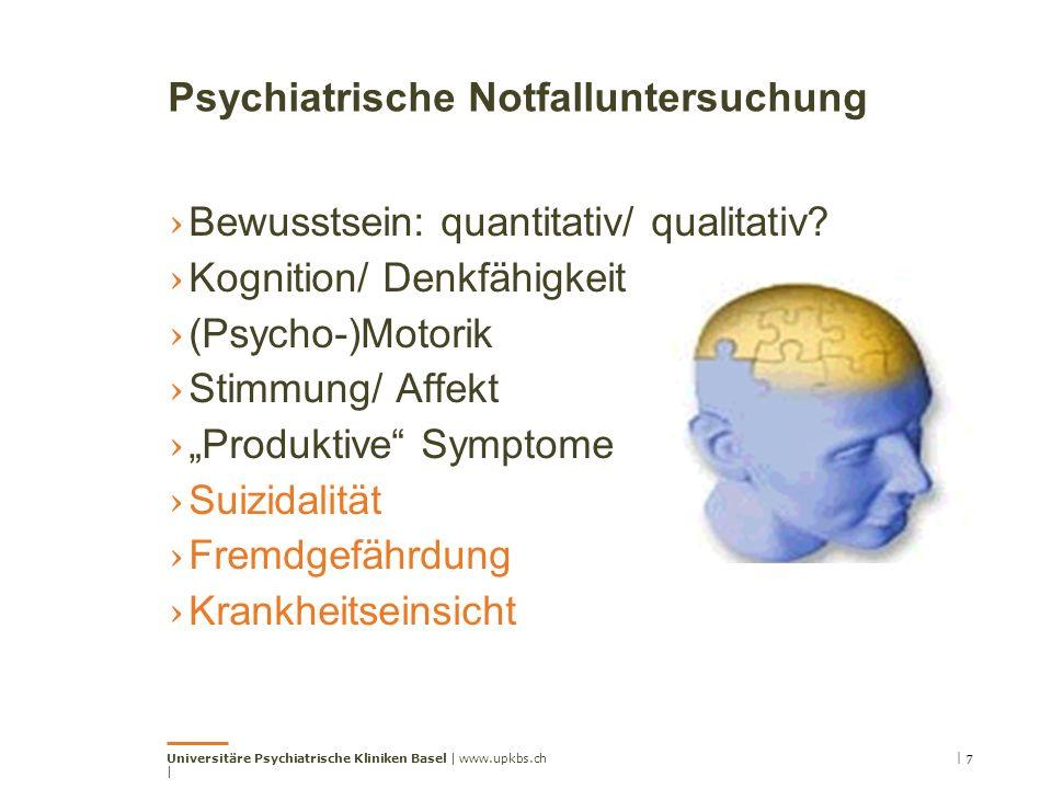Psychiatrische Notfalluntersuchung