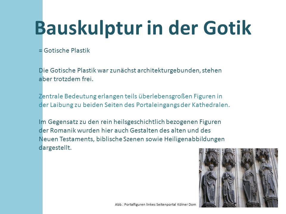 Bauskulptur in der Gotik