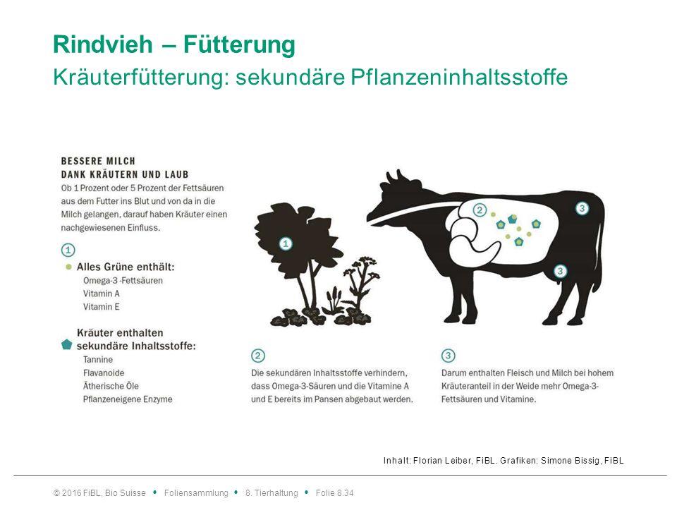 Rindvieh – Fütterung Kräuterfütterung: Tannine