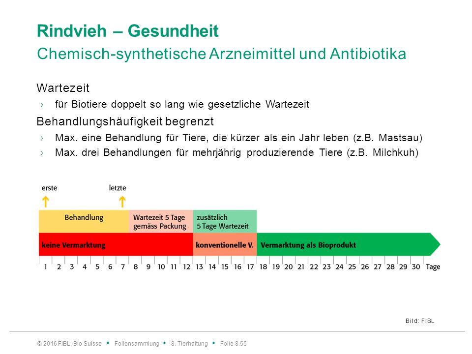 Rindvieh – Gesundheit Häufigste Antibiotikabehandlungen in Biobetrieben.