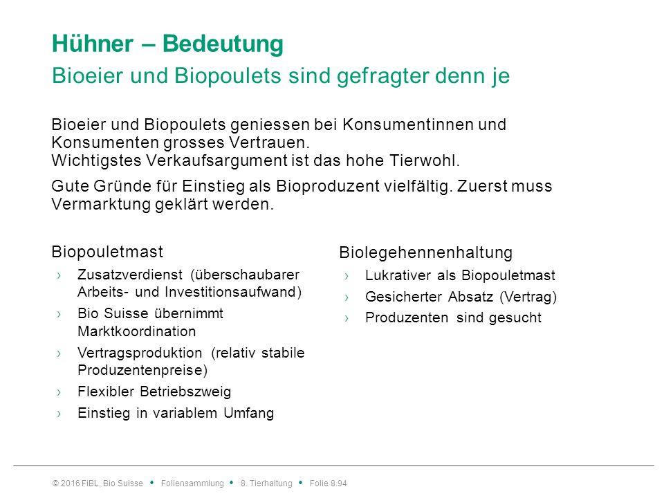 Hühner – Bedeutung Vergleich Biopouletmast und Biolegehennenhaltung