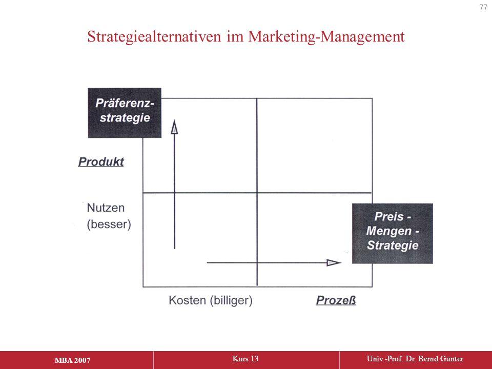 Strategiealternativen im Marketing-Management
