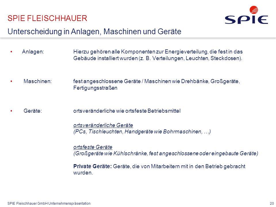 SPIE FLEISCHHAUER § 5 Prüfungen nach DGUV V3 § 5 DGUV Prüfungen ..