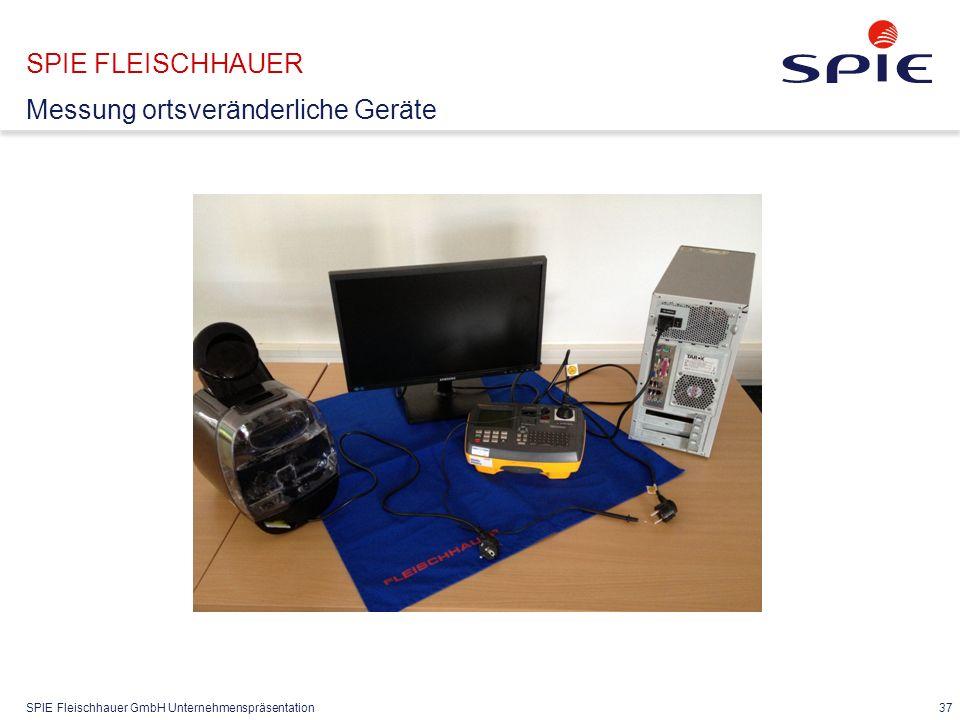 SPIE FLEISCHHAUER Abwicklung DGUV V3 Vorbereitung im Büro