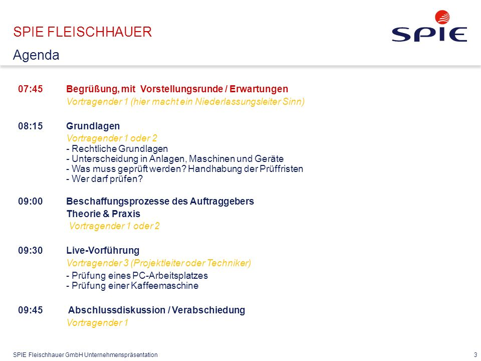 SPIE FLEISCHHAUER Zahlen/Daten/Fakten Gesellschafterstruktur