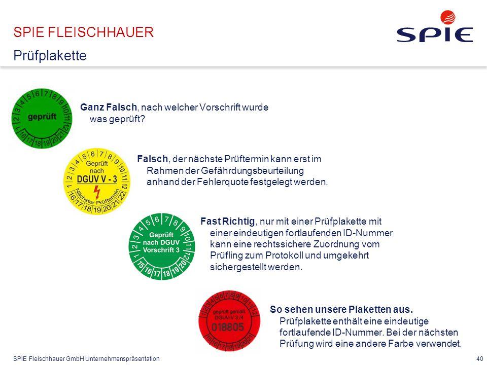 SPIE FLEISCHHAUER Dokumentation mit Messergebnisse