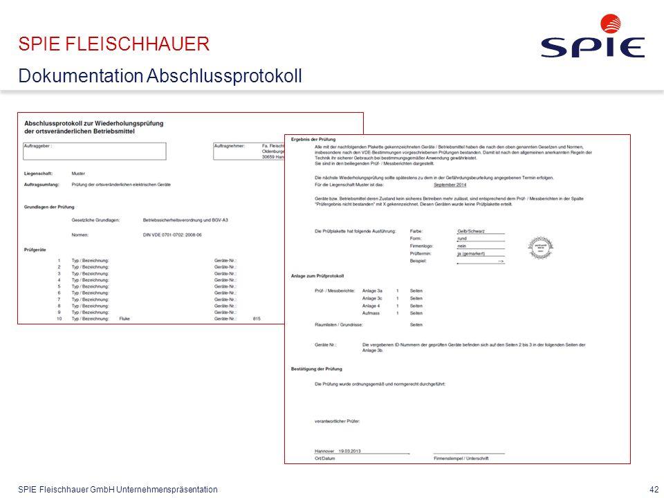 SPIE FLEISCHHAUER Dokumentation mit Gefährdungsbeurteilung