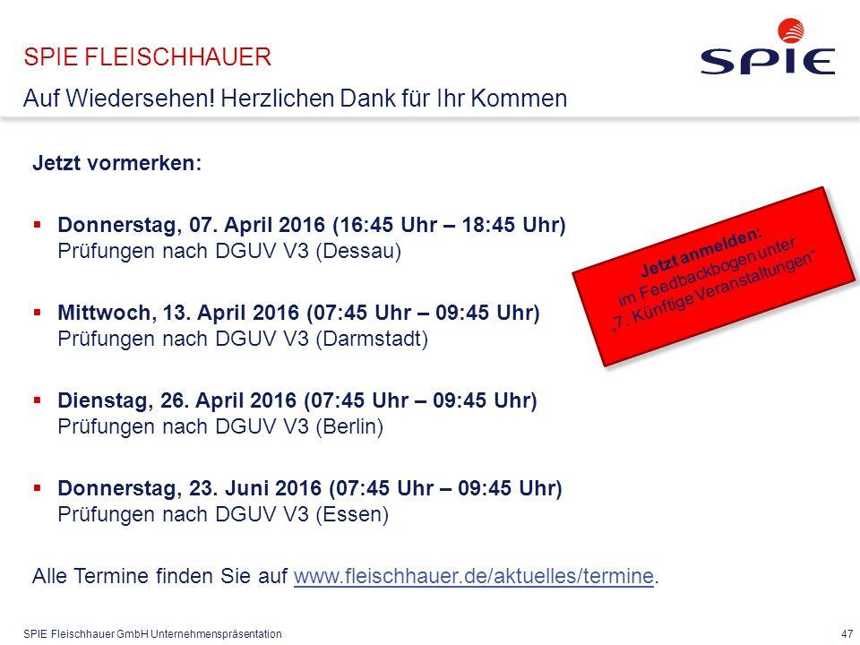 SPIE FLEISCHHAUER Kontakt SPIE Fleischhauer GmbH
