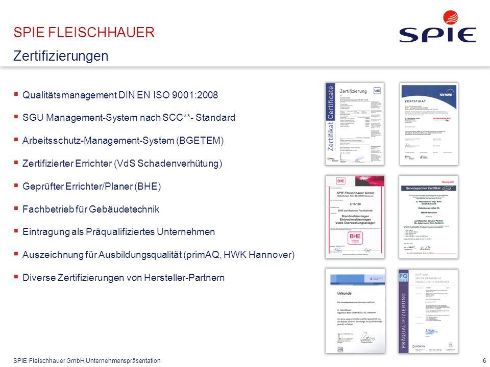 SPIE FLEISCHHAUER Das Geschäftsmodell Kunde Sicher-heit 24/7 Service