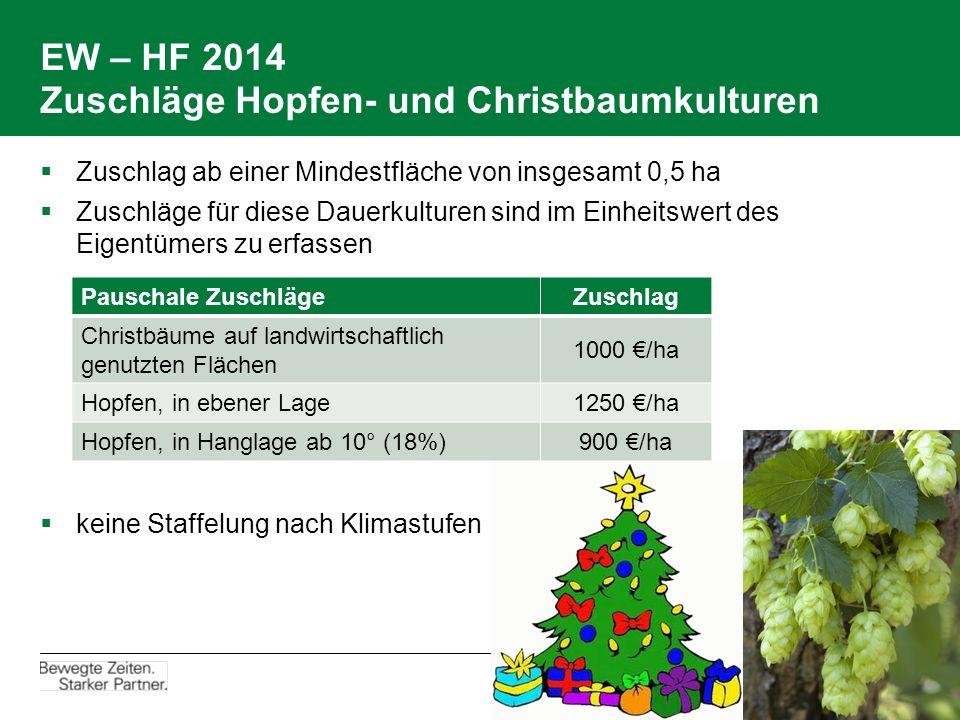 EW – HF 2014 Zuschläge Hopfen- und Christbaumkulturen