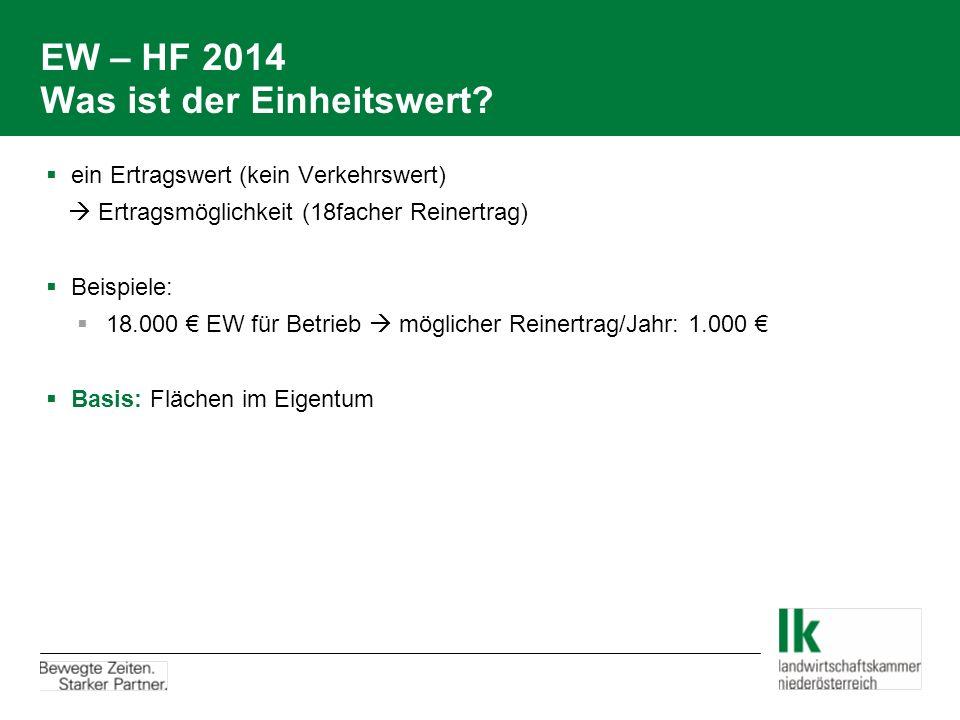 EW – HF 2014 Was ist der Einheitswert