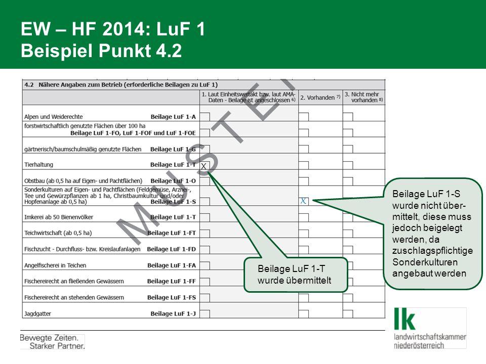 EW – HF 2014: LuF 1 Beispiel Punkt 4.2
