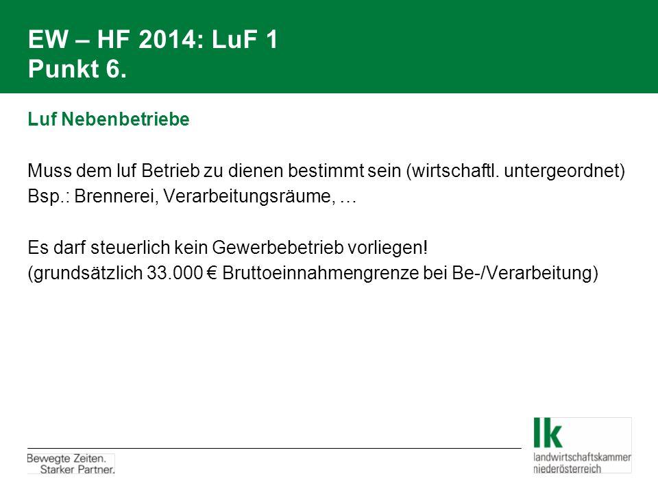 EW – HF 2014: LuF 1 Punkt 6.