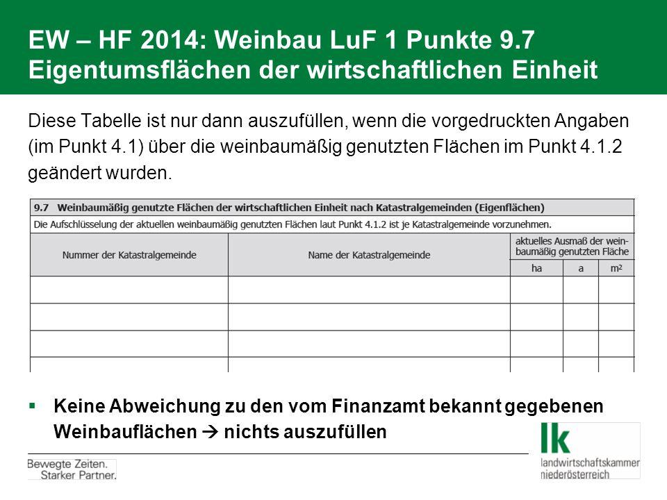 EW – HF 2014: Weinbau LuF 1 Punkte 9