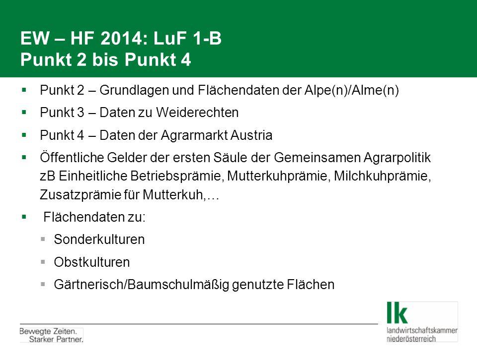 EW – HF 2014: LuF 1-B Punkt 2 bis Punkt 4